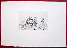 Eau-forte originale,La patrouille, Dupray, Cadart, XIXe