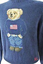 POLO RALPH LAUREN Intarsia-Knit Flag Polo Bear Sweater LARGE NWT 2014