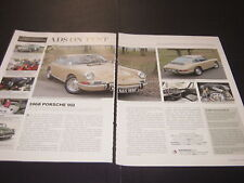 1968 PORSCHE 911 article Reg NAV188F & AUSTIN MINI COOPER S article Reg NWV623G