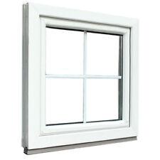 VK. Stabiles Fenster Sprossenfenster Dekorahmen abgerundet Holz weiss 77cm inkl