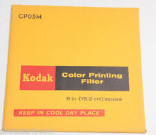 "Kodak Wratten CP05M Gelatin Filter 152x152mm 6x6"" Square - NEW"