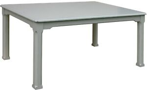TRADE WINDS HARBORTON BREAKFAST TABLE TRADITIONAL ANTIQUE GRAY PAINT PAI