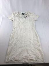 RALPH LAUREN $179 Womens New White Cut Out  Short Sleeve Sheath Dress M