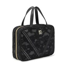 Victoria's Secret Vs Everything Hanging Travel Case Beauty Bag Black Lace Nwt