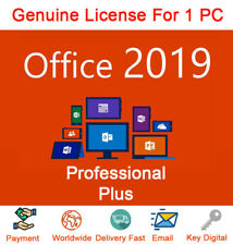 Office 2019 Pro Professional Plus 32/64 Bit | Product key | Instant Delivery