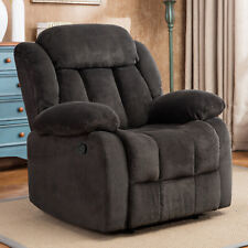 Oversized Manual Recliner Chair Wide Seat Overstuffed Armrest Sofa Lving Room US