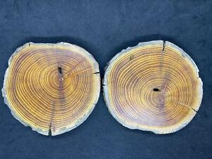 Natural Hardwood Osage Orange Wood Cup-Drink Coasters