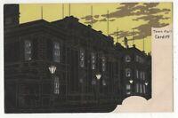 Cardiff Town Hall pre 1914 Postcard 178c