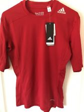 NWT ADIDAS TECHFIT Climalite Compression Men's T-Shirt Athletic Red Shirt Top M