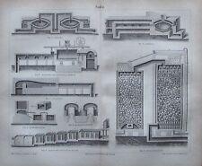 1878 SODA Sulfat- Schmelzofen original antiker Druck antique print Lithografie