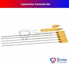 Liposuction Cannulas Set of 5 with Handle And Adapter For Abdomen Fat Transfer