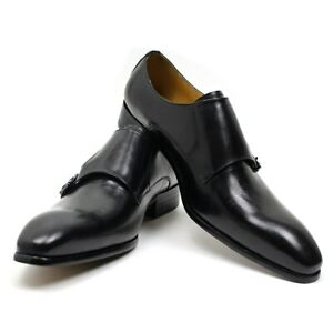Mens Dress Shoes Leather Shoes Monk Strap Buckle Pointed Toe Wedding Business