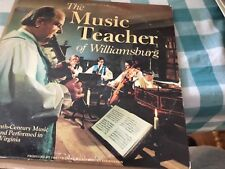 The Music Teacher of Williamsburg Album LP Vinyl 18th Century Music Virginia