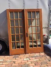 Ar 212 Match Pair Antique Oak French Door