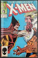 Uncanny X-Men #222 VF/NM 9.0 Sabretooth Wolverine 1987
