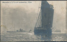 Mint Ww 1 Germany Rppc Postcard U Boat Submarine U-53 Off American Coast Patrol