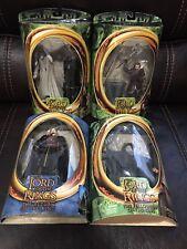 The Lord Of The Rings Figure Lot Saruman, Gandalf, Eomer, Gimli