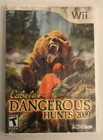 Cabela's Dangerous Hunts 2009 - Nintendo Wii - Activision - Game & Case