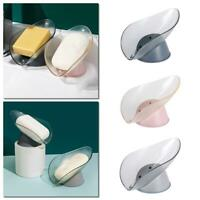 Home Sponge Holder Sink Drain Rack Bathroom Accessories Leaf Soap Box.