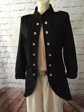 Luxury Copenhagen Coat Jacket Blazer Jersey Military Black L/14 + Noa Noa beads