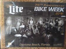 2016 Daytona Beach Miller Lite Bike Wee 00004000 k Girls Motorcycle Photo Card