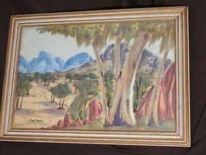 Ivan Panka / Pannka 1943-1999 Ghost Gum MacDonnell Ranges Watercolour Framed