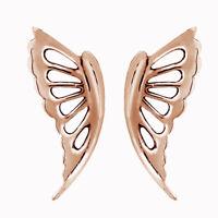 Butterfly Wings Stud Earrings 14K Rose Gold Over Sterling Silver 925