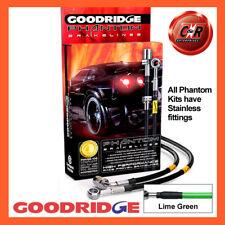 BMW 3 Series E90 330i SE 05- S/Steel Lime Gr Goodridge Brake Hoses SBW0260-6C-LG
