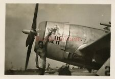 *WWII photo- P 47 Thunderbolt Fighter plane Nose Art - I'VE HAD IT*