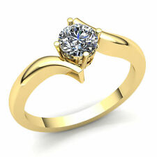Natural 0.15carat Round Diamond Ladies Bridal Solitaire Engagement Ring 10K Gold