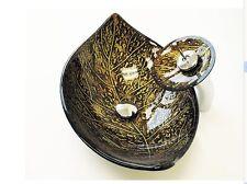 LUXURY Glass basin sink bowl LEAF MATCHING glass brass WATERFALL Tap Bathroom UK