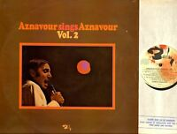 CHARLES AZNAVOUR aznavour sings aznavour vol 2 (original uk press) LP EX/VG-