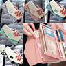 New Ladies Women Leather Envelope Clutch Wallet Long Card Holder Purse Handbag