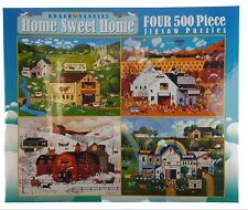 4 in 1 Roger Nannini HOME SWEET HOME COLLECTION FOUR JigSaw Puzzles in One Box