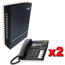 Centralino telefonico analogico 3/8 linee 2 telefoni manuale italiano centralini