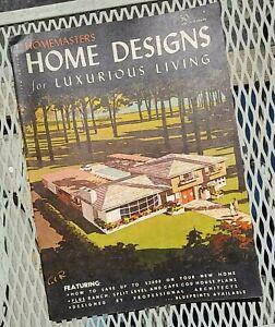 Homemaster Home Designs for Luxurious Living 1962 House Plans Mid Century Modern