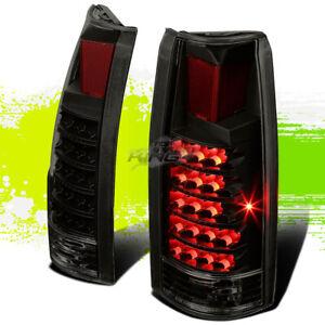 FOR 88-98 CHEVY C/K 1500/2500/3500 SUBURBAN BLACK SMOKE LENS LED TAILLIGHT LAMP