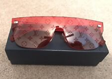 LOUIS VUITTON x SUPREME RED City Mask LV Monogram Sunglasses Travis Scott