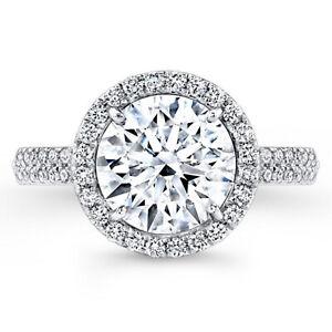 Diamond Engagement Wedding Ring 1.07 Ct Round Solitaire 14K White Gold Size J K