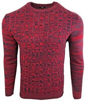 Mens New D&H Twisted Cable Sweatshirts Crew Neck Pulover Winter Jumper