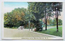 Vintage 1937 Postcard Greetings From Beaver Brook N.Y.