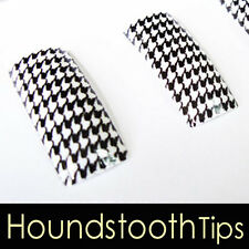 70 PCS Acrylic French False Nail Tips Printed Houndstooth 54135-15