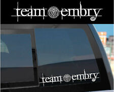 """Team Embry"" Sticker Decal for Twilight Wolf Pack & Jacob w/ tattoo design too!"