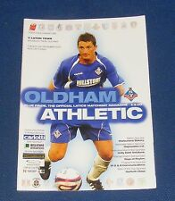 Oldham Athletic -v- Luton Town  2007-2008