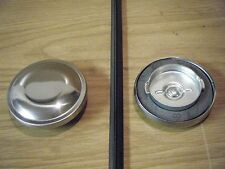61 62 63 English Ford Capri Classic New Gas Fuel Cap Polished Stainless Steel