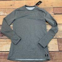 Under Armour Mens Coldgear Baselayer Shirt Size Medium Gray New NWT B229