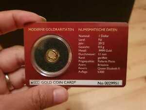 Gold coin card 25 Jahre Britannia, 0,5 gr Gold
