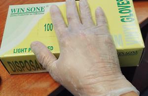 Win Some Vinyl Lightly Powdered Medium (1000) Gloves per case