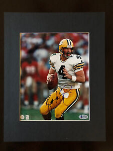 Brett Favre Packers 8x10 Glossy Photo Matted Signed Autographed Beckett BAS