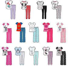 Ladies Girls Novelty Pyjama Pjs Wonder Woman Unicorn Minnie Tatty Size 8-22